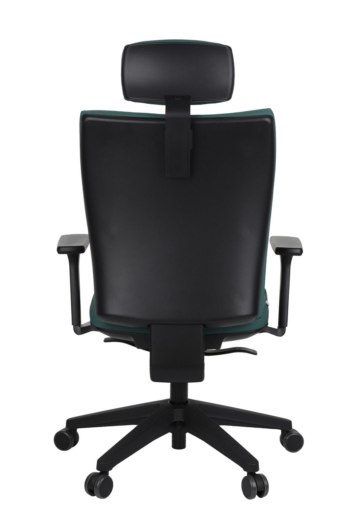 Tył fotela Kim HD Black w tkaninie N16